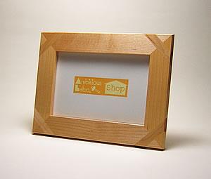 画像1: ポストカードフレーム メープル材 (1)